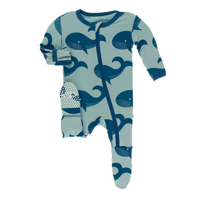 Kickee Pants - Oceanography Collection - Footie with Zipper– Jade Whales