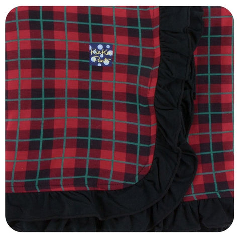Kickee Pants - Holiday 2017 - Ruffle Stroller Blanket - Plaid
