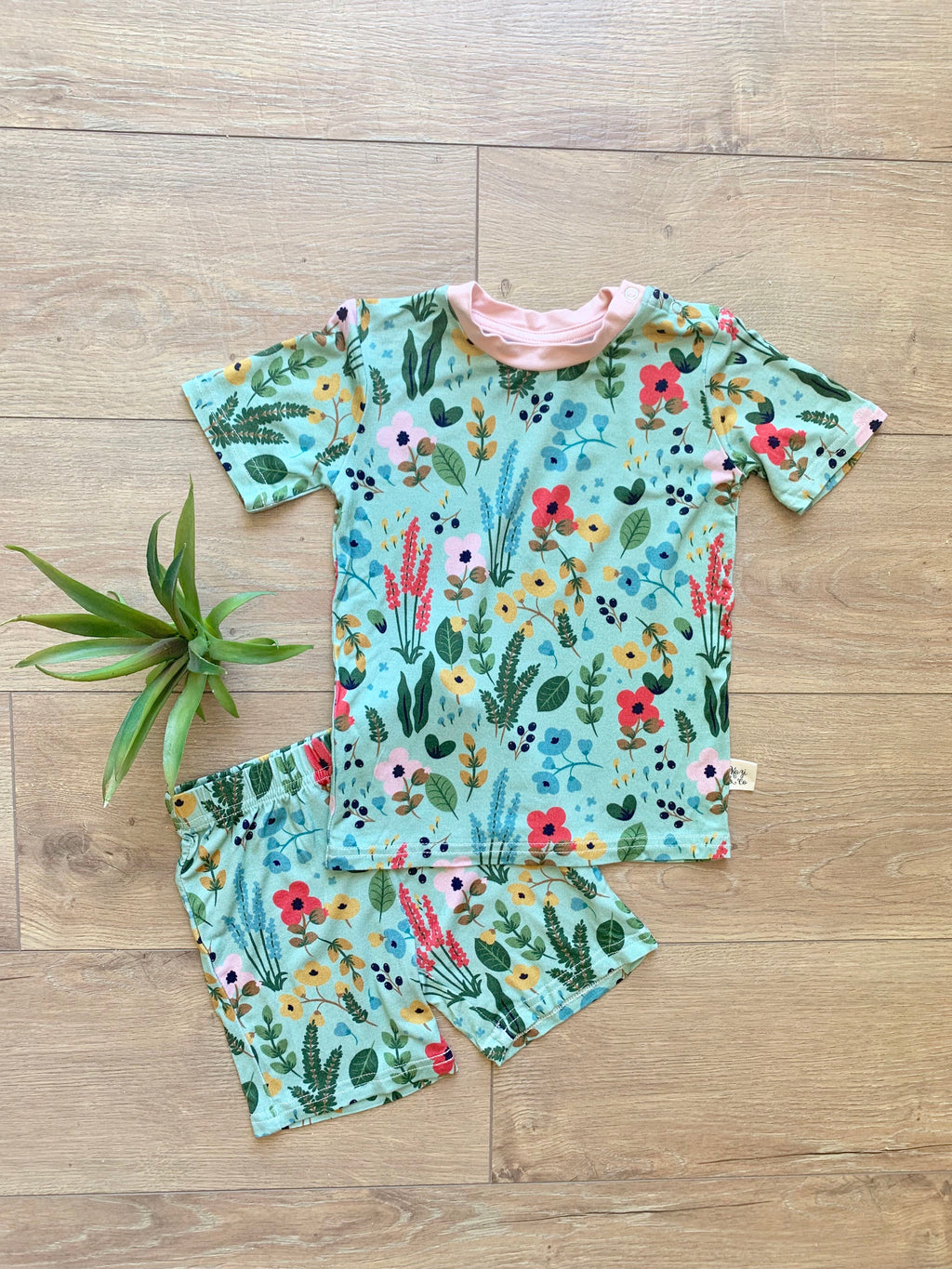 Kozi & Co - Spring 2020 Collection - Short Pajama Set - Le Jardin