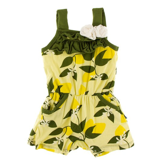 Kickee Pants - Spring 1 2019 - Flower Romper with Pockets – Lime Blossom Lemon Tree