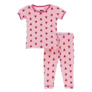 Kickee Pants - Spring 1 2018 - Pajama Set – Lotus Watermelon