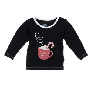 Kickee Pants - Holiday 2018 - Long Sleeve Print Tee – Midnight Hot Cocoa
