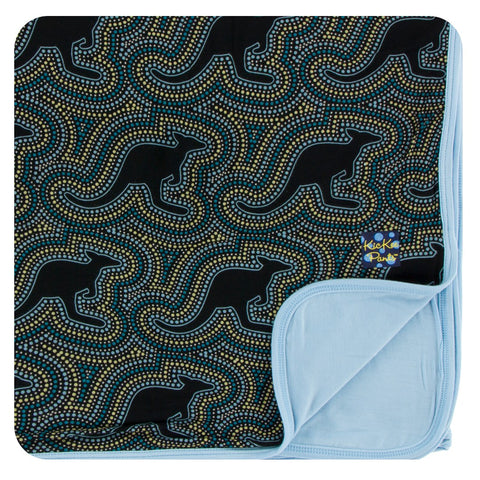 Kickee Pants - Fall 3 2017 - Toddler Blanket - Midnight Kangaroo