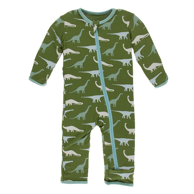 Kickee Pants - Paleontology Collection - Coverall with Zipper – Moss Sauropods