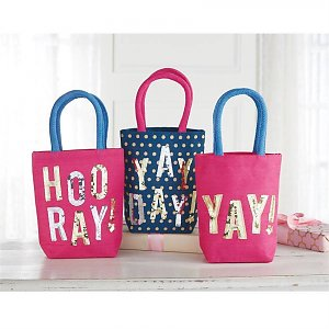 Mud Pie Children Dazzle Mini Tote Bags