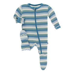Kickee Pants - Oceanography Collection - Footie with Zipper– Oceanography Stripe