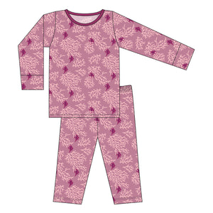 Kickee Pants - Oceanography Collection - Pajama Set - Pegasus Coral Fans