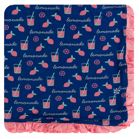 Kickee Pants - Spring 2 2018 - Ruffle Toddler Blanket - Pink Lemonade