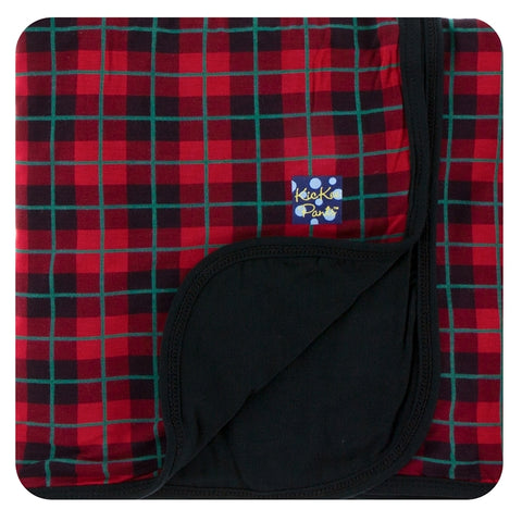 Kickee Pants - Holiday 2017 - Stroller Blanket - Plaid