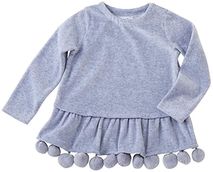 Mud Pie Baby Girls' Classic Pom Pom Tunic