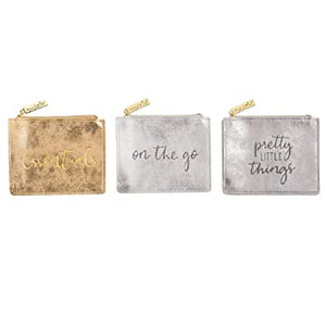 Mud Pie Women Shimmer Zip Pouch - Pretty Little Things