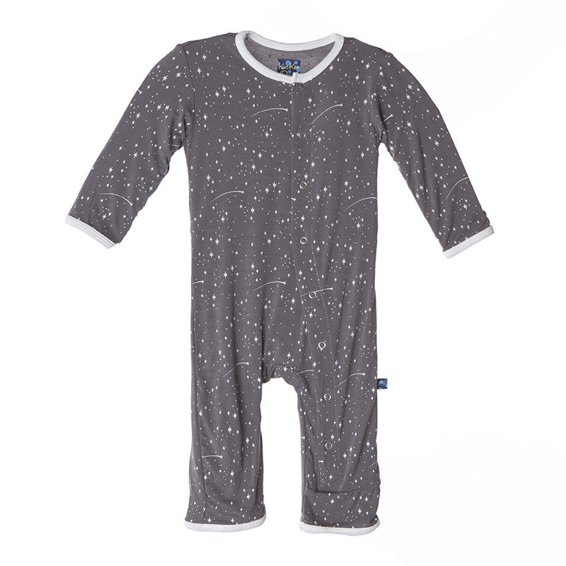Kickee Pants - Rain Shooting Stars Fitted Coverall