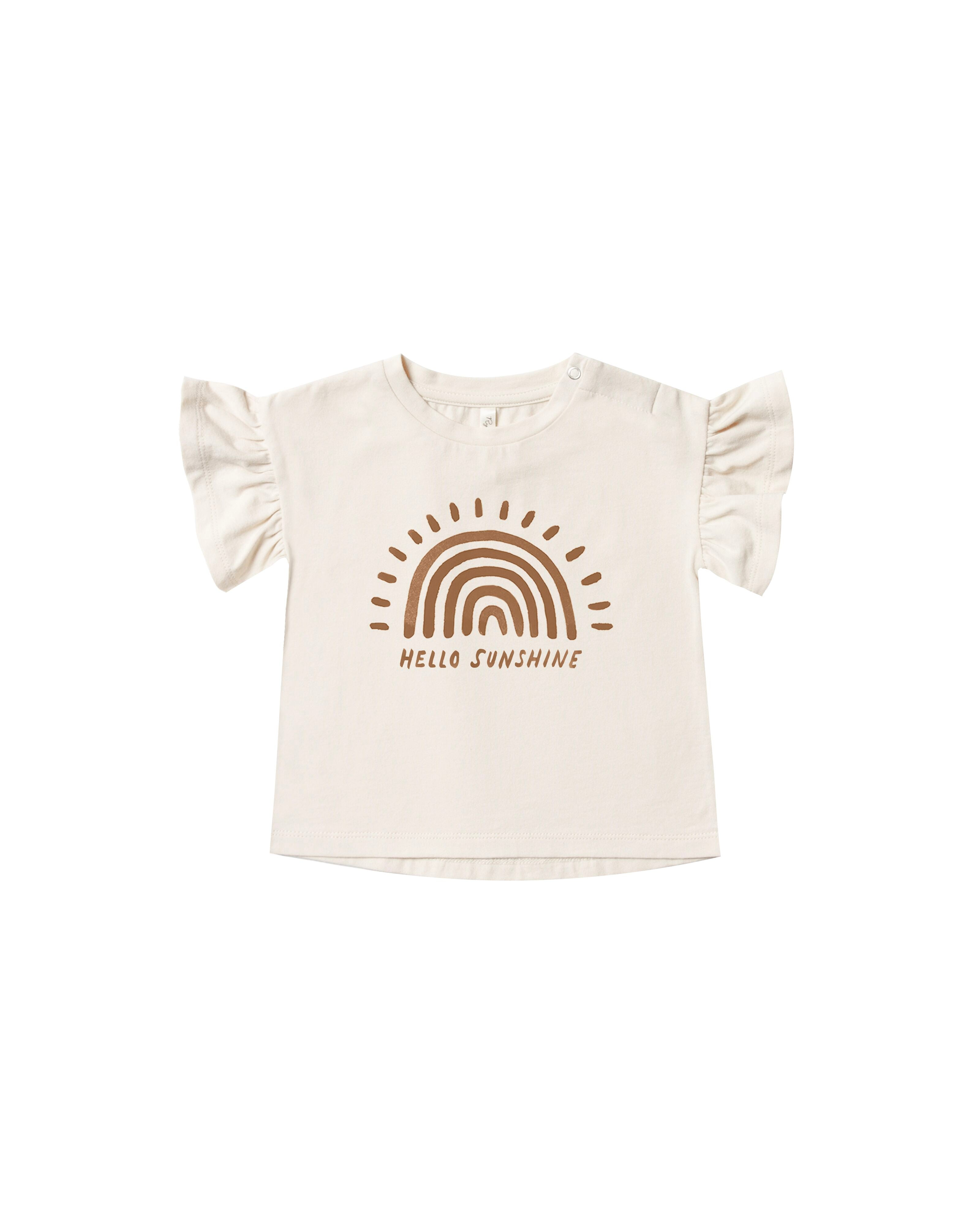 Rylee + Cru - Hometown Collection - Rainbow Sun Flutter Tee - FINAL SALE