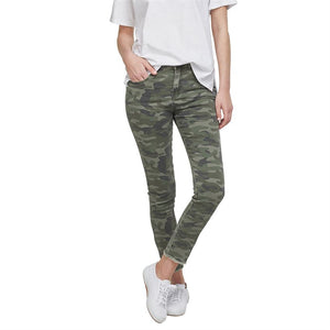 Mud Pie Rory Denim Jeans in Green Camo