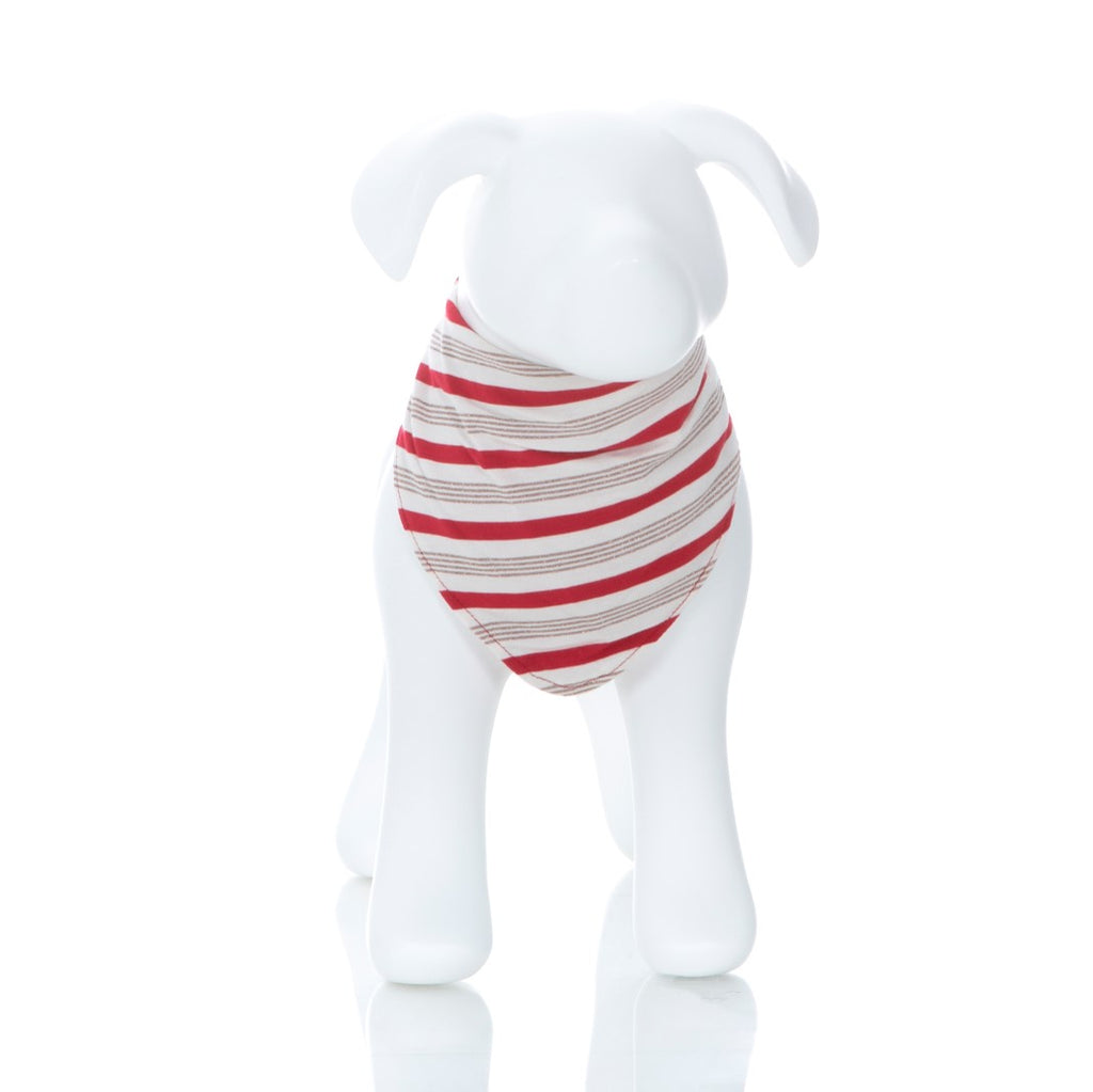 Kickee Pants - Holiday 2018 - Dog Tee - Rose Gold Candy Cane Stripe