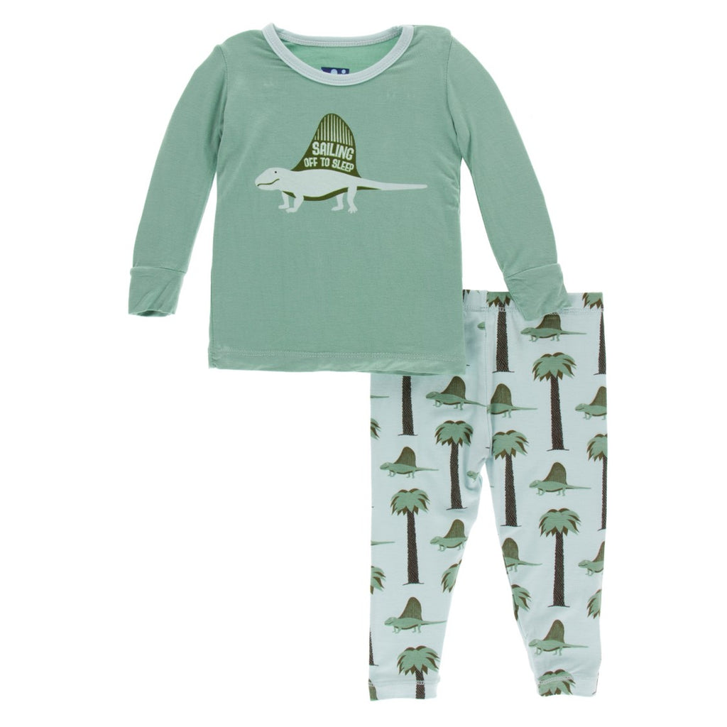 Kickee Pants - Paleontology Collection - Pajama Set - Sailing Off to Sleep