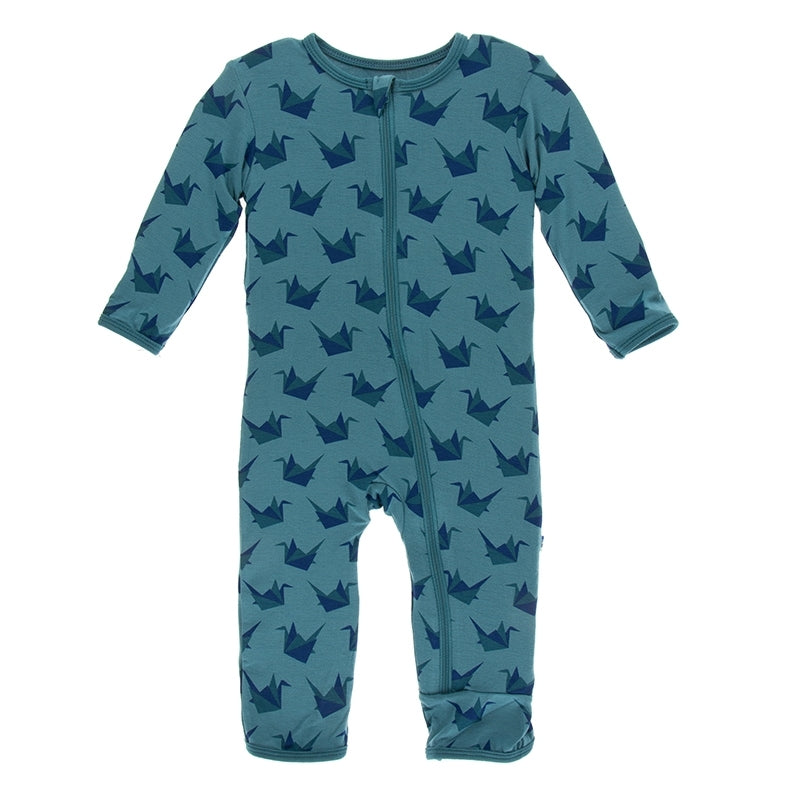 Kickee Pants - Fall 3 2018 - Coverall with Zipper – Seagrass Origami Crane