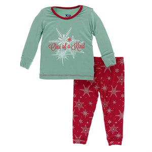 Kickee Pants - Winter Celebrations - Pajama Set - Shore One of a Kind