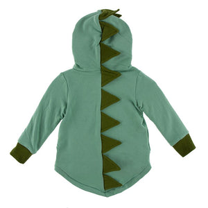 Kickee Pants - Paleontology Collection - Zip Front Dino Hoodie – Shore with Moss