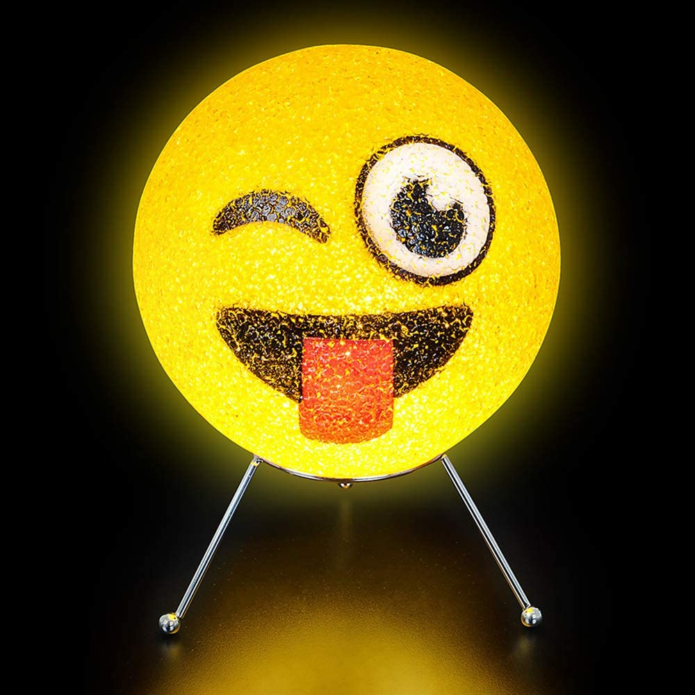 Novelty 9 Inch Sparkle Emoticon Lamp