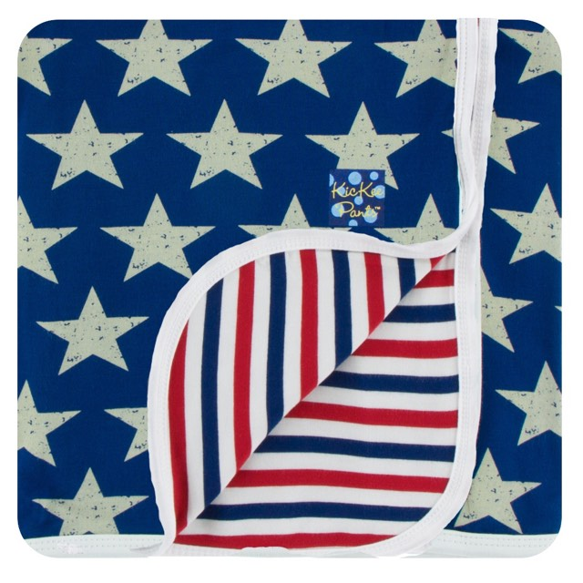 Kickee Pants - Spring 2 2018 - Toddler Blanket - Stars and Stripes