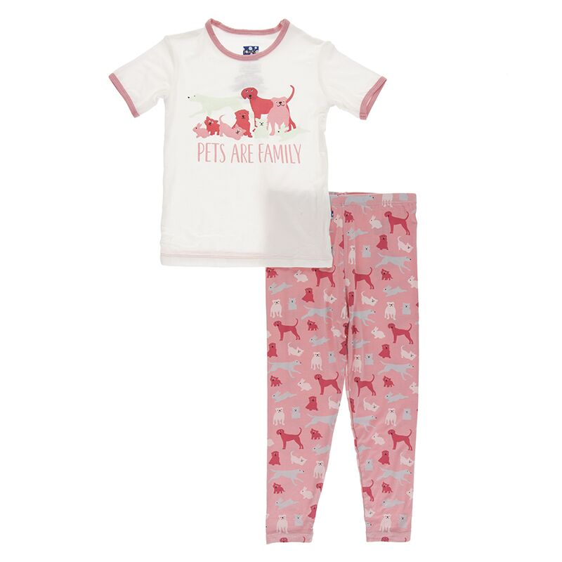 Kickee Pants - Zoology - Pajama Set - Strawberry Domestic Animals
