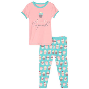 Kickee Pants - Culinary Arts Collection - Pajama Set - Summer Sky Cupcakes