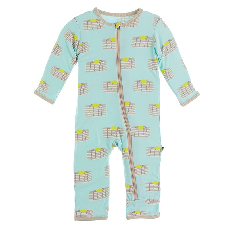 Kickee Pants - Culinary Arts Collection - Coverall with Zipper– Summer Sky Pancakes