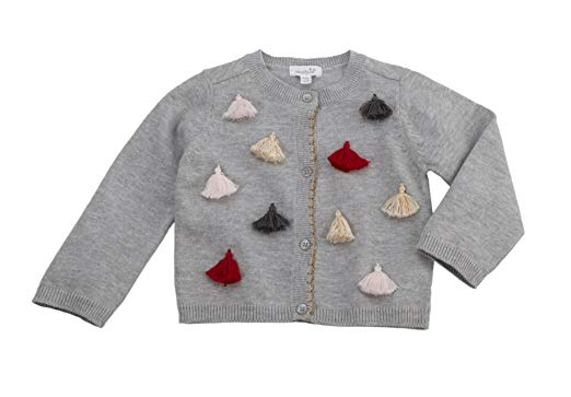 Mud Pie Girls Tassel Cardigan Cotton Children's Apparel,