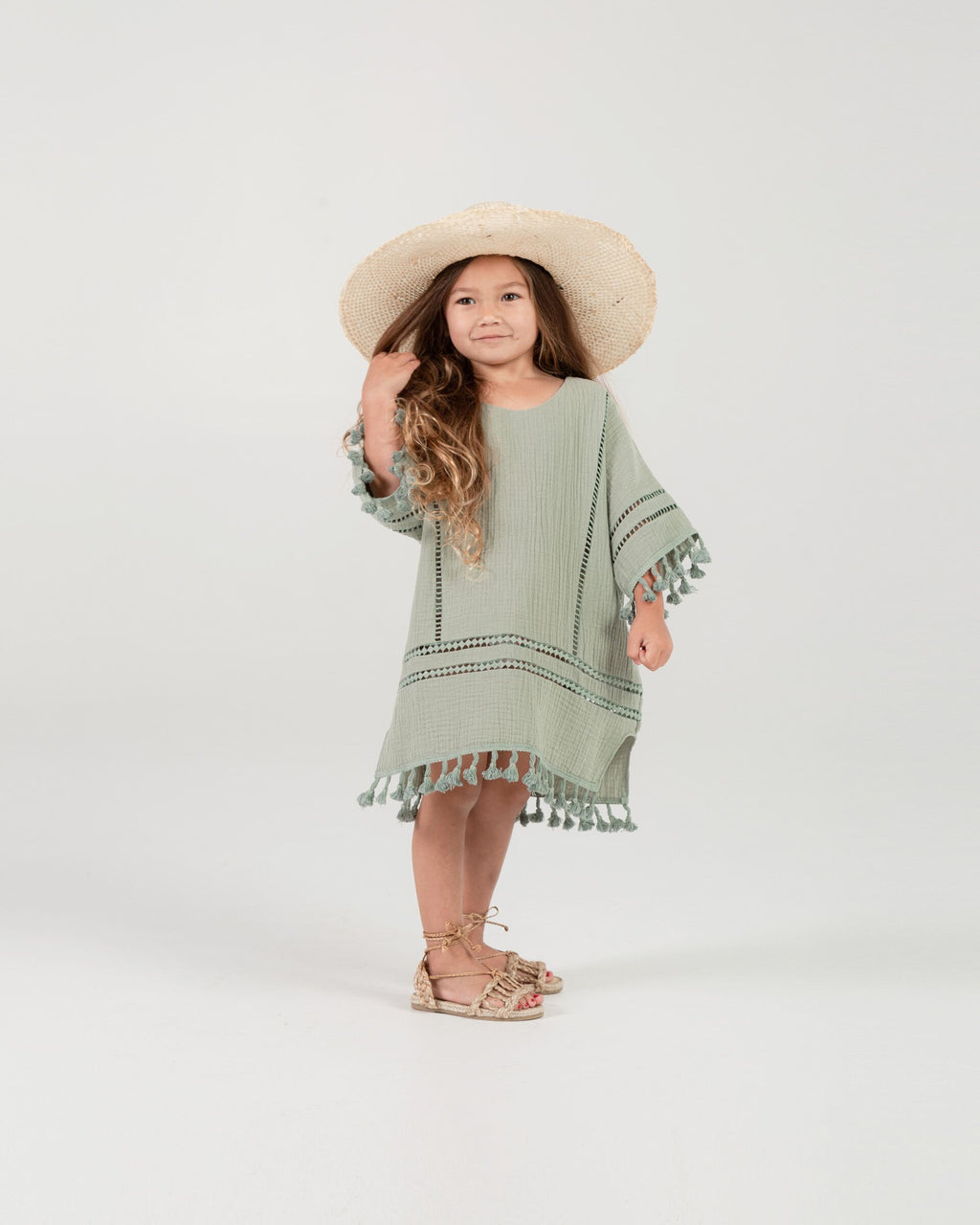 Rylee + Cru - Hometown Collection - Tassel Cover Up - Seafoam