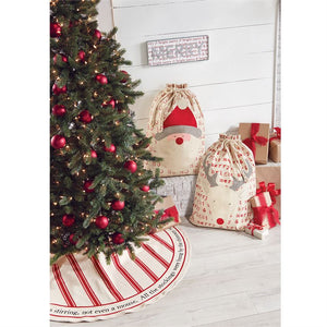 Mud Pie Twas The Night Red Grain Sack Tree Skirt
