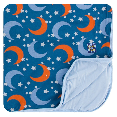 Kickee Pants - Spring 1 2018 - Toddler Blanket - Twilight Moon and Stars