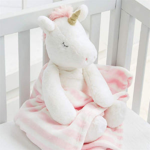 Mud Pie Unicorn Plush with Blanket