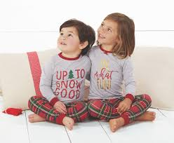 Mud Pie Up to Snow Good Tartan Long Sleeve Two-Piece Pajamas