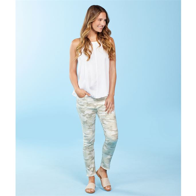 Mud Pie Rory Denim Jeans in White Camo
