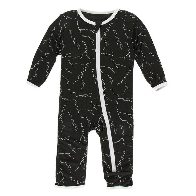 Kickee Pants - Geology & Meteorology Collection - Coverall with Zipper– Zebra Lightning