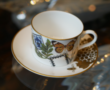 Load image into Gallery viewer, Spinocchia Freund X Mary Katrantzou Limited Edition 6 Piece Cup 7 Saucer Set