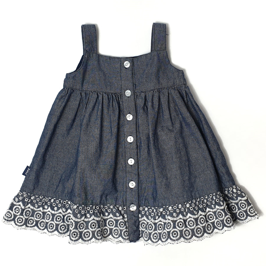 Beautiful button-up dress 6-12M (Pre-loved)