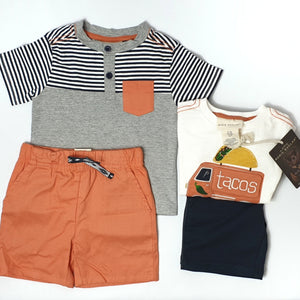 Mix&match 4-piece set for boy 12M (Pre-loved)