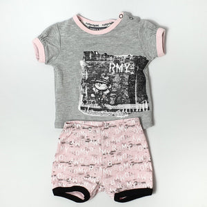 Trendy 2-piece outfit for girl 6-9M (Pre-loved)