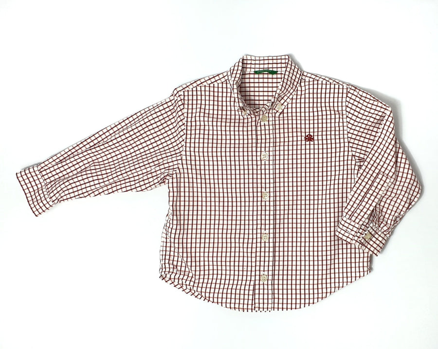 Beautifully-made plaid shirt for boy 24M (Pre-loved)
