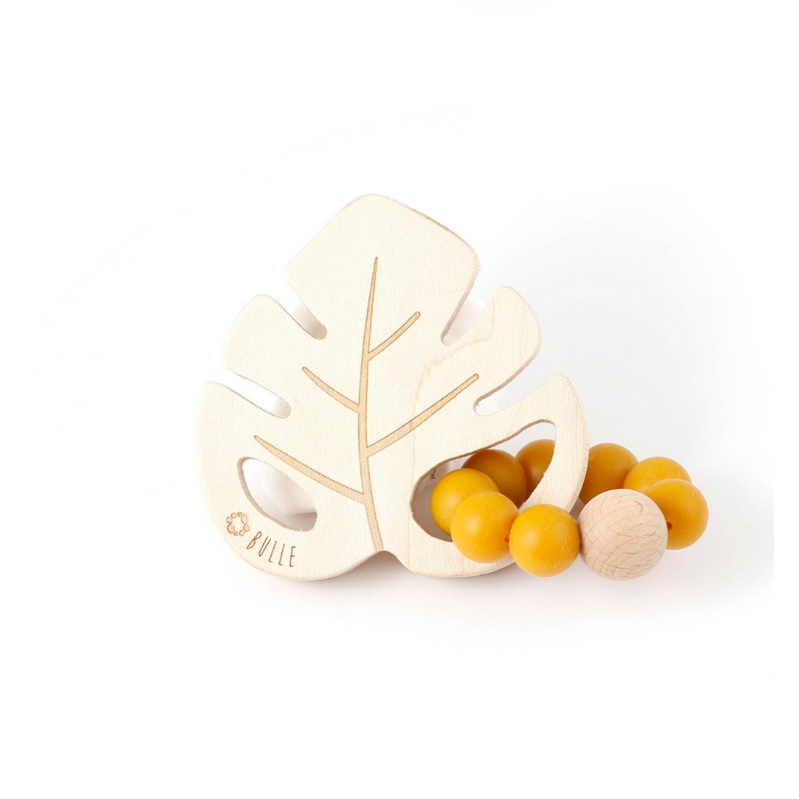 Leaf Rattle - Dijon - Made in Canada