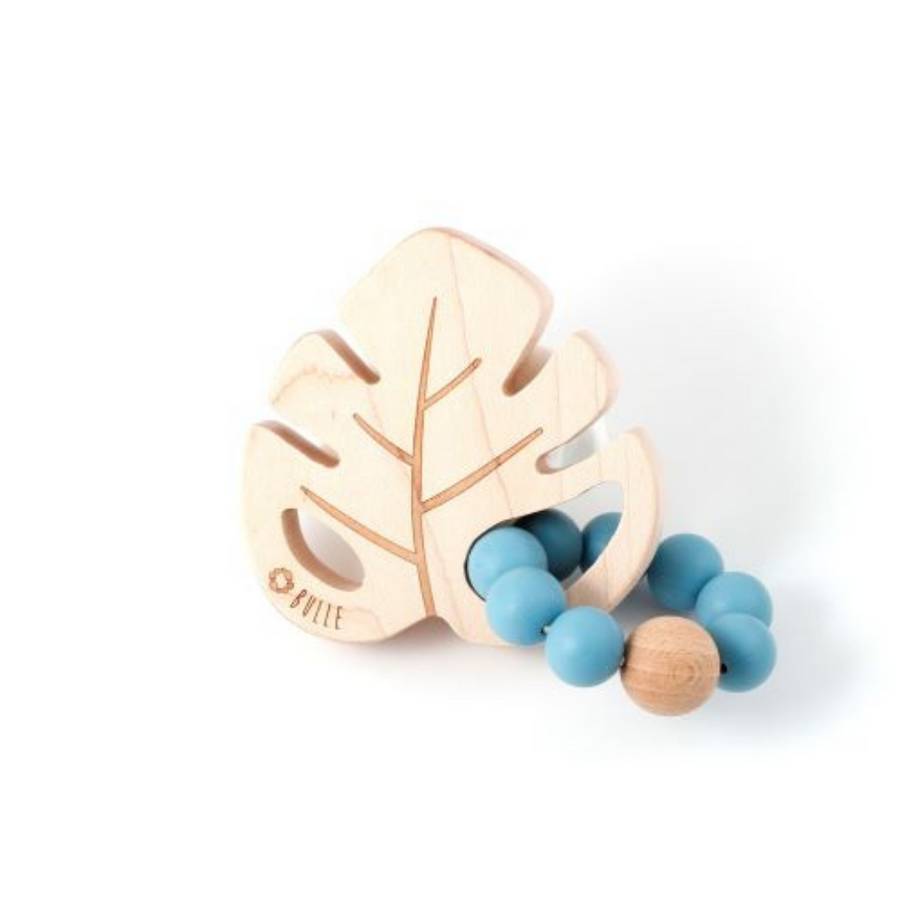 Leaf Rattle - Steel Blue - Made in Canada