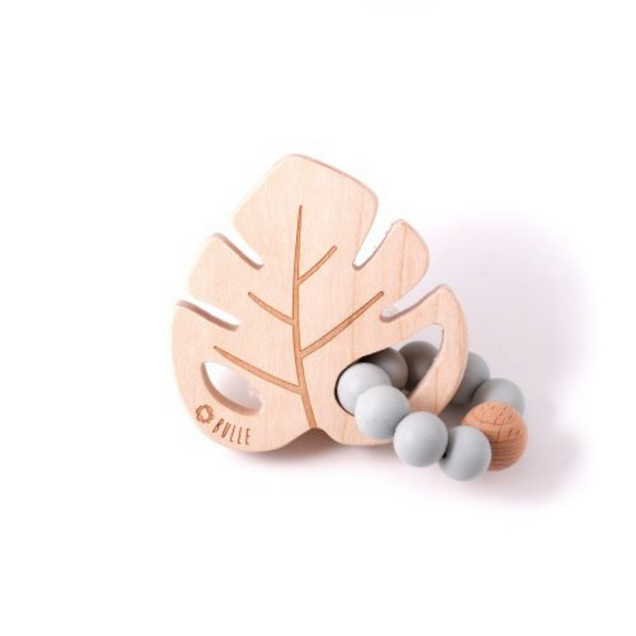 Leaf Rattle - Grey - Made in Canada
