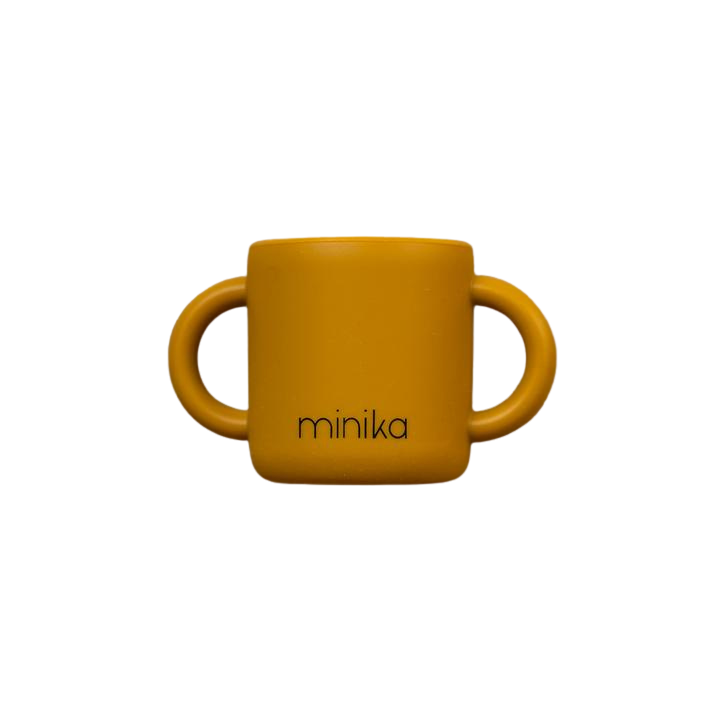 Silicone learning cup - ochre
