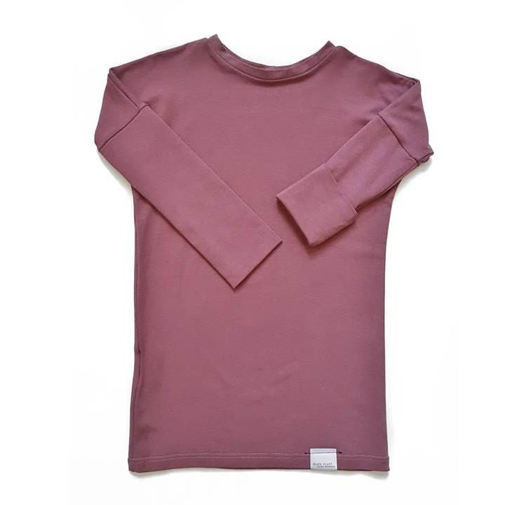 Grow with me organic shirt - rose brown - made in Canada