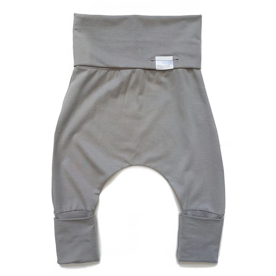 Grow with me harem pants - taupe - made in Canada