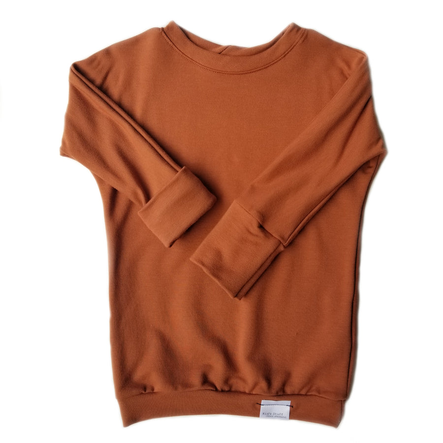 Grow with me sweater - rust - made in Canada
