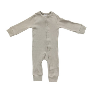 Organic Cotton Ribbed Footless Romper - Brushed Sage