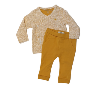 Organic 2-piece Outfit for Baby - Honey yellow